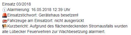 Einsatz 03/2018