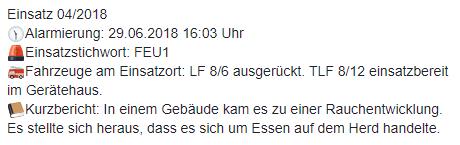 Einsatz 04/2018