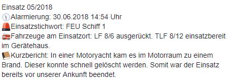 Einsatz 05/2018